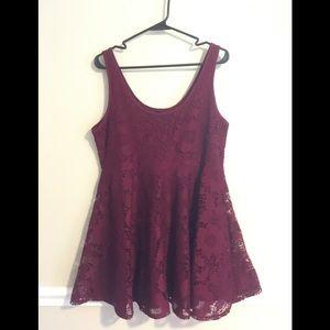 Aeropostale lacy wine colored dress.